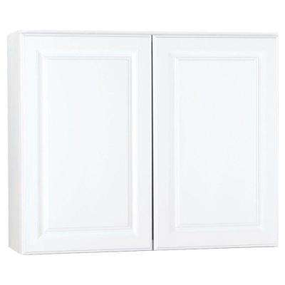 Hampton Assembled 36 in. x 30 in. x 12 in. Wall Kitchen Cabinet in Satin White