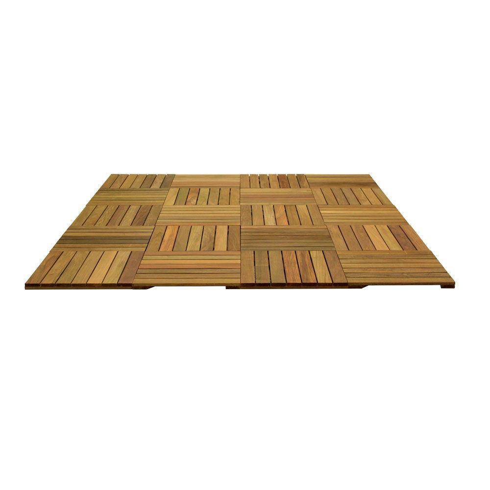 WiseTile 8.3 ft. x 6.6 ft. 55 sq. ft. Solid Hardwood