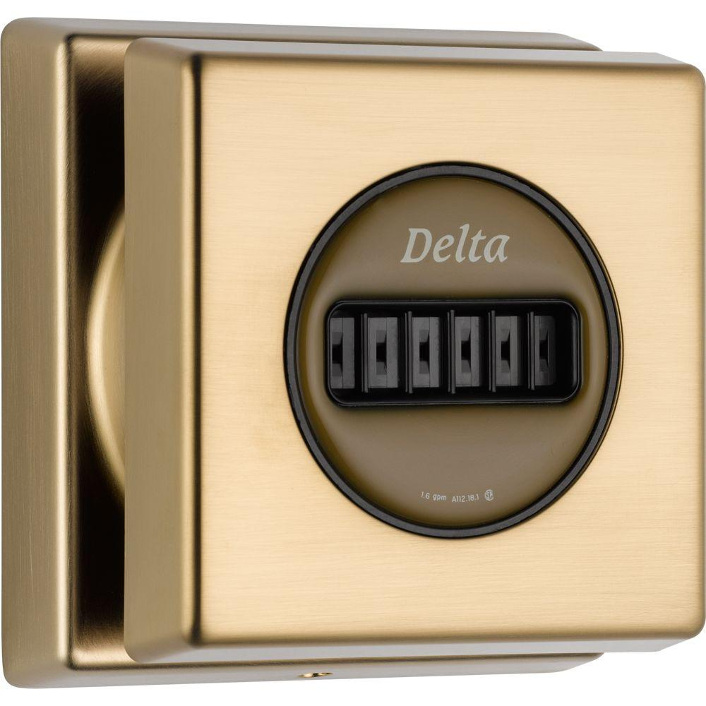 Delta Body Spray Trim Kit in Champagne Bronze featuring H2Okinetic (Valve Not Included)