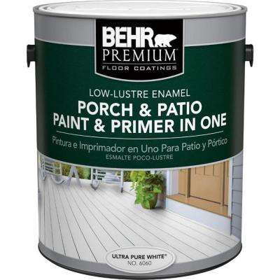1 gal. #6060 Ultra-Pure White Low Lustre Interior/Exterior Paint and Primer in One Porch and Patio Floor Paint