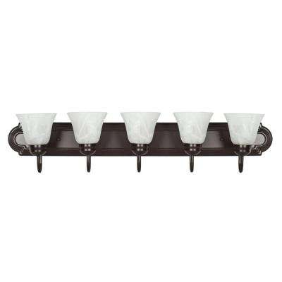 Spiers 5-Light Oil-Rubbed Bronze Bath Vanity Light