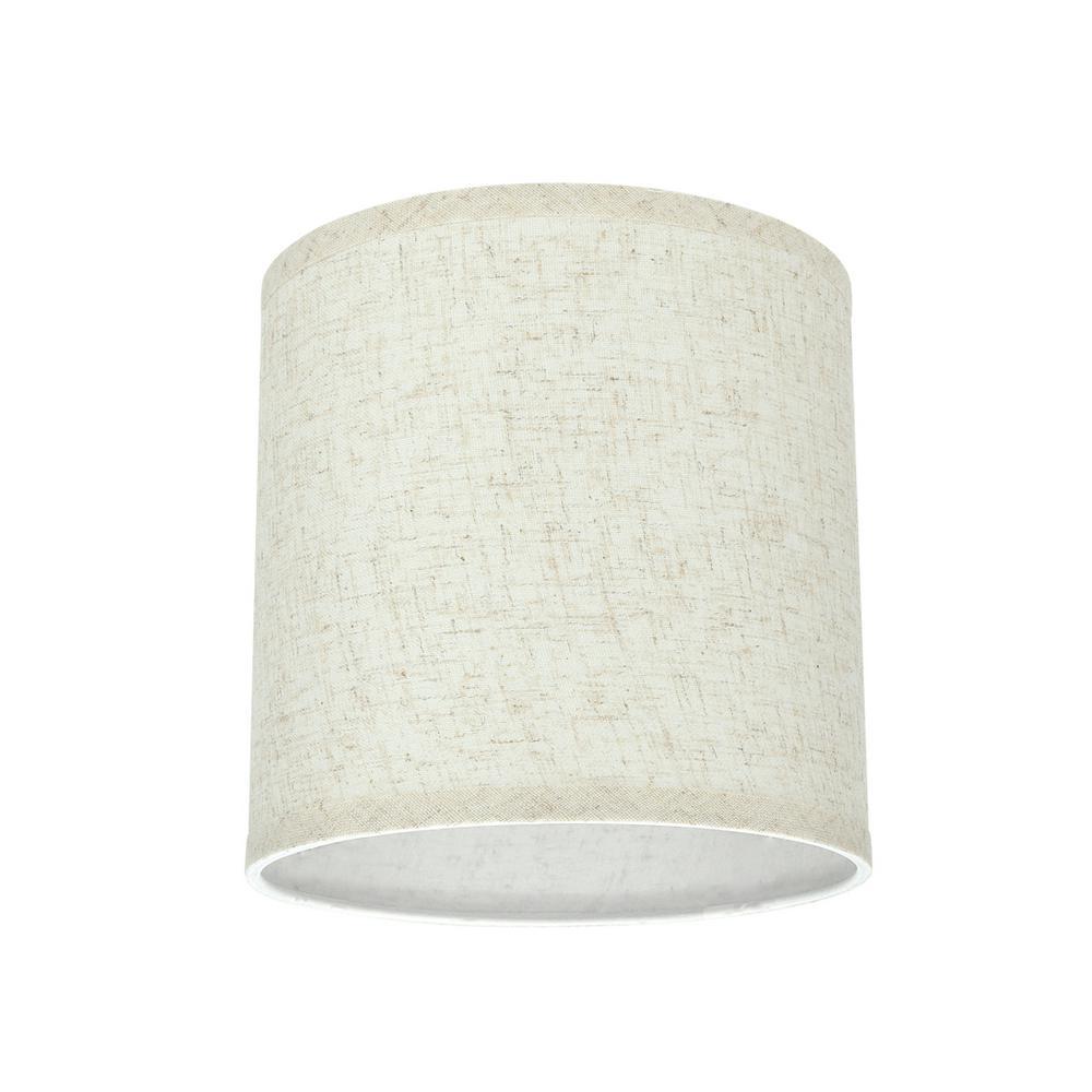 "Aspen Creative 31051 Hardback Drum Spider Lamp Shade Flaxen 8/""x8/""x8/"" Cylinder"