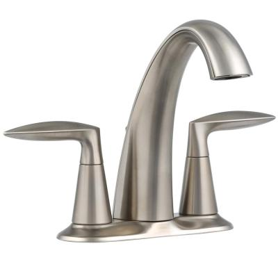 Alteo 4 in. Centerset 2-Handle Bathroom Faucet in Vibrant Brushed Nickel