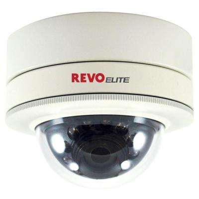 Elite Wired 700 TVL Indoor/Outdoor Mini Vandal Proof Dome Surveillance Camera