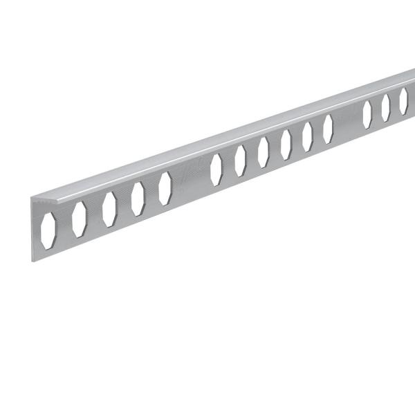 Novosuelo Bright Silver 5/16 in. x 98-1/2 in. Aluminum Tile Edging Trim