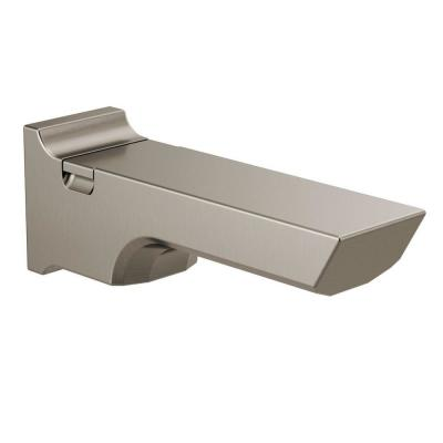 Pivotal 9 in. Pull-up Diverter Tub Spout in Stainless