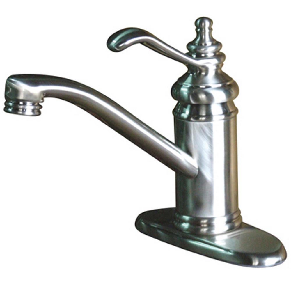 Danvers 4 in. Centerset Single-Handle High-Arc Bathroom Faucet in Satin Nickel