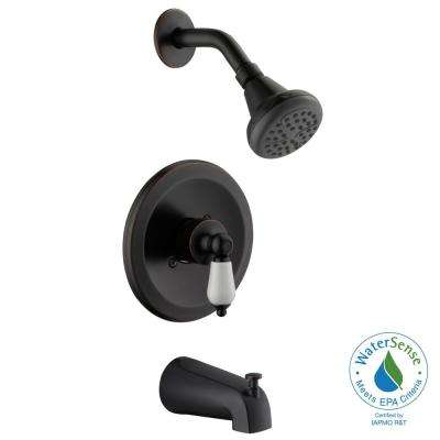 Teapot Single-Handle Tub and Shower Faucet in Bronze