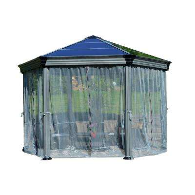 Roma / Monaco Garden Gazebo Netting Set Gray (6-Pieces)