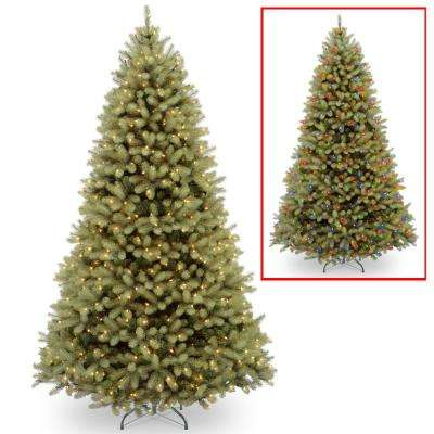 9 ft. Downswept Douglas Fir Tree with Dual Color LED Lights - 9 Ft - Color Changing - Pre-Lit Christmas Trees - Artificial