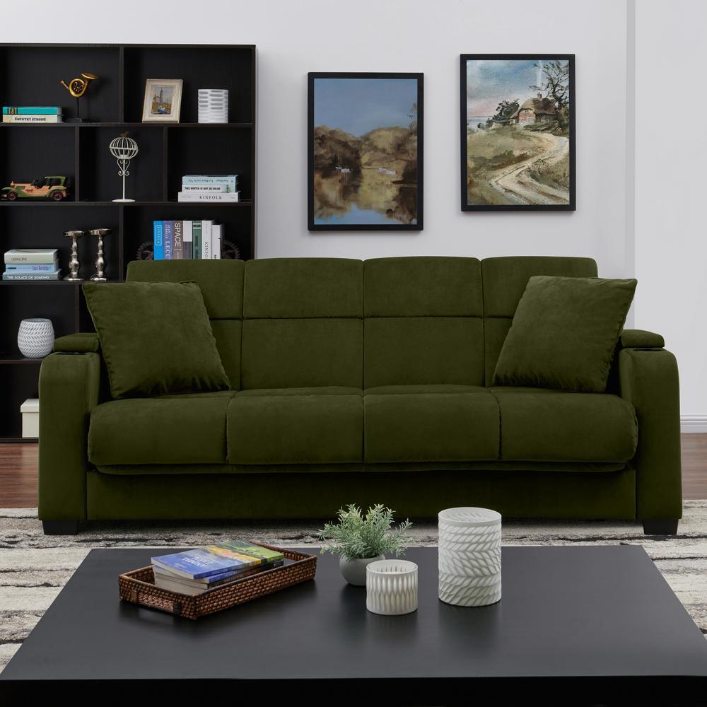 Sensational Handy Living Sophia Kale Green Velvet Storage Arm Convert A Lamtechconsult Wood Chair Design Ideas Lamtechconsultcom
