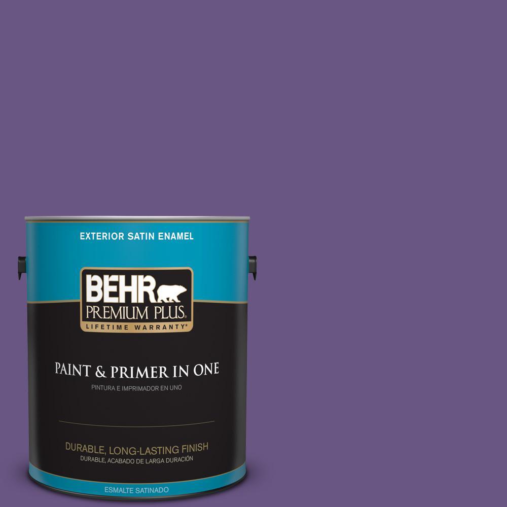 1 gal. #PPU16-02 Vigorous Violet Satin Enamel Exterior Paint