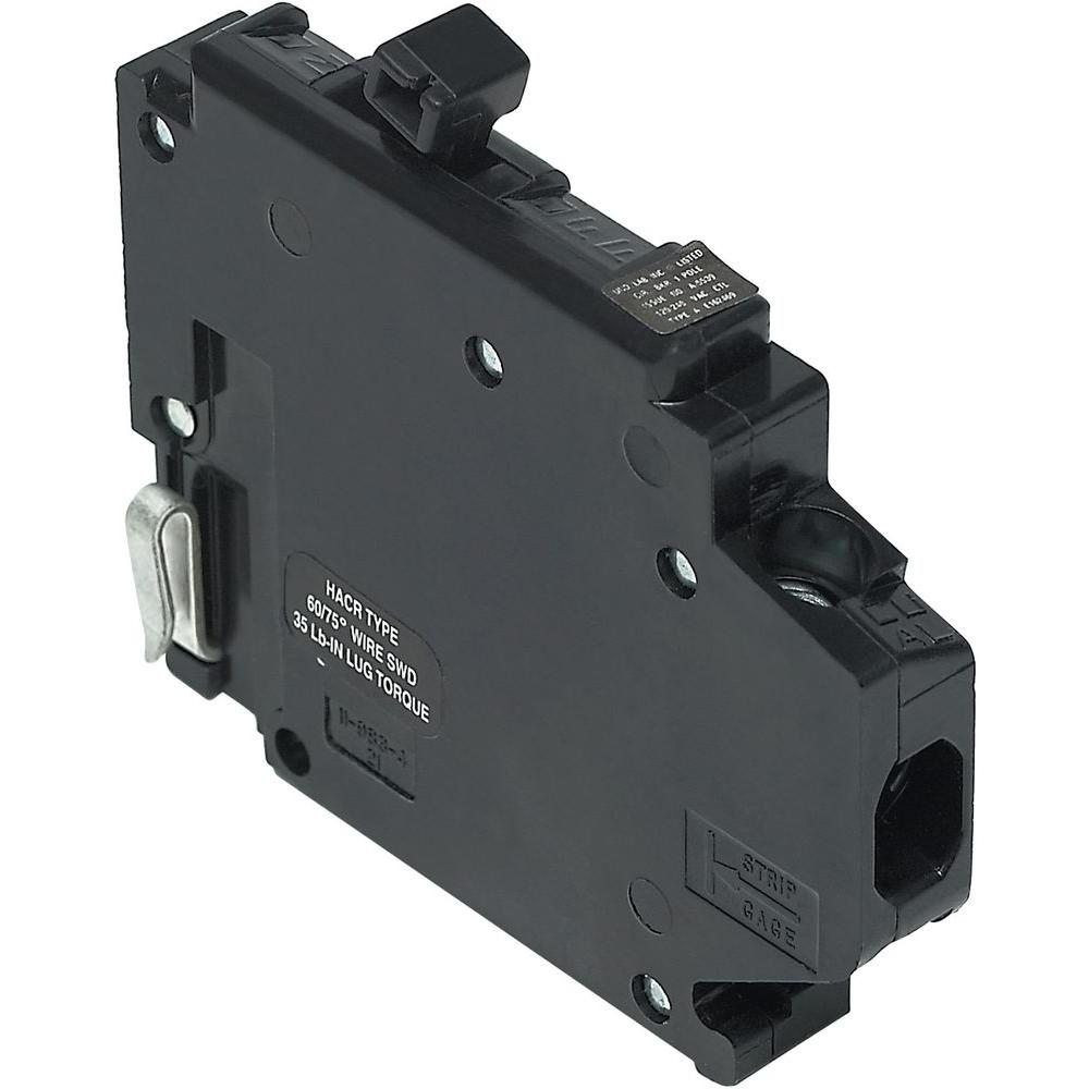 Connecticut Electric New Challenger 20A 1/2 in. 1-Pole Type A Replacement Left Clip Thin Circuit Breaker