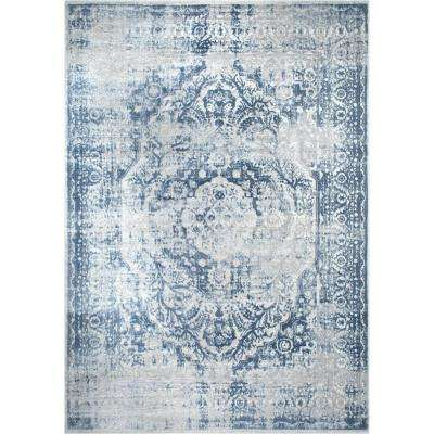 Kenmare Gray/Blue 6 ft. 6 in. x 9 ft. 6 in. Indoor Area Rug