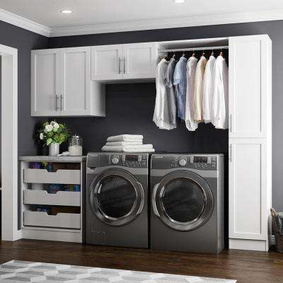 W White Laundry Cabinet Kit