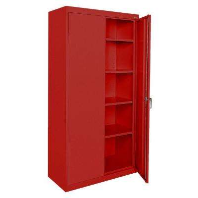 Classic Series 72 in. H x 36 in. W x 18 in. D Steel Frestanding Storage Cabinet with Adjustable Shelves in Red