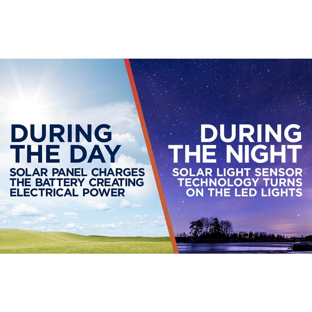 Moonrays Solar Powered 60-Lumen Black Outdoor Integrated LED Adjustable  Landscape Spot Light
