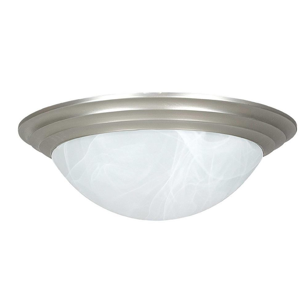Radionic Hi Tech Monterey 1-Light Satin Nickel Flush Mount