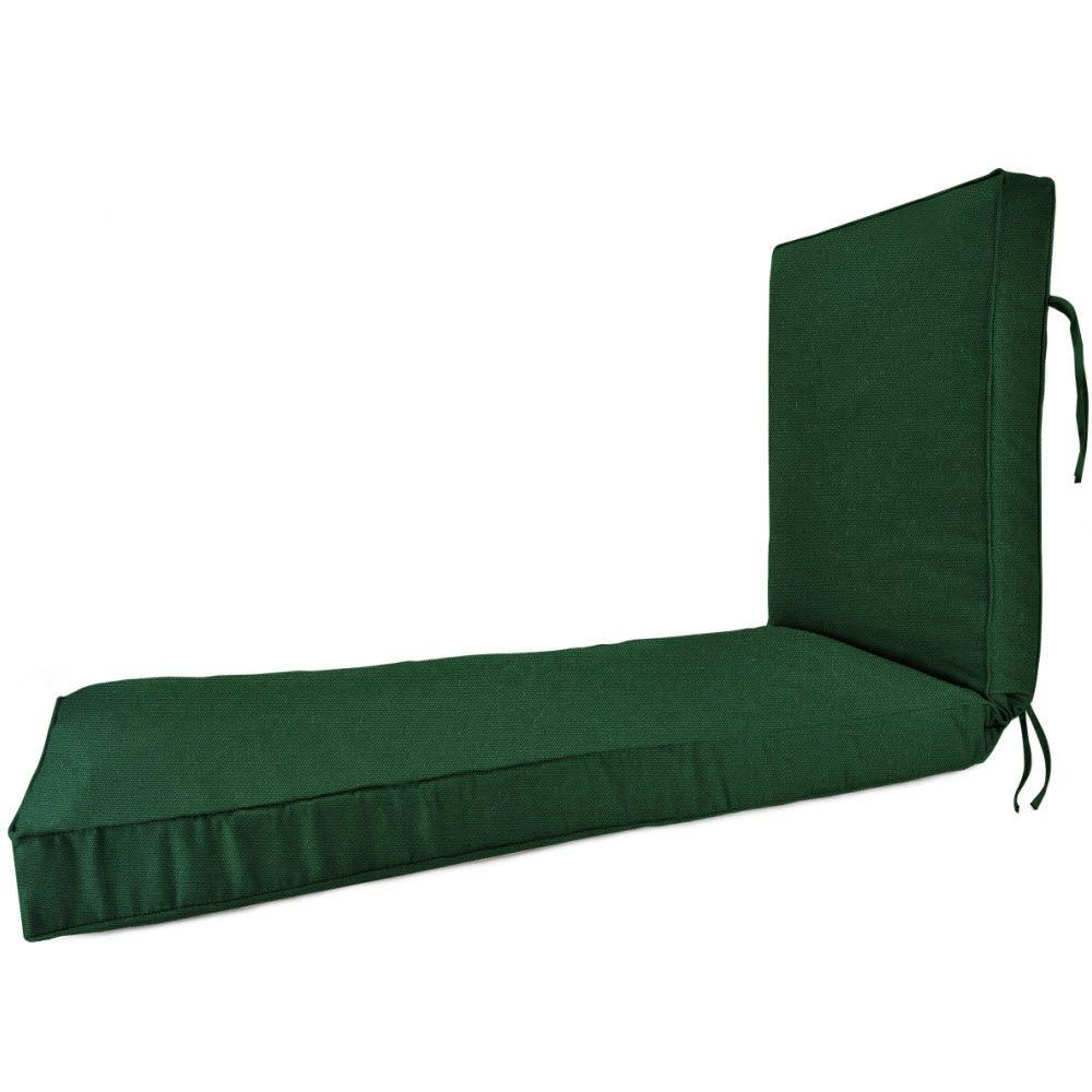 23 x 75 Outdoor Chaise Lounge Cushion in Sunbrella Forest Green