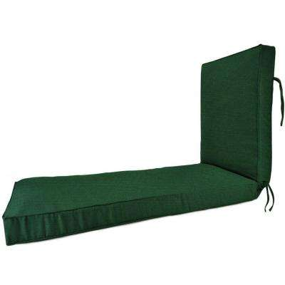 Sunbrella Forest Green Outdoor Chaise Lounge Cushion