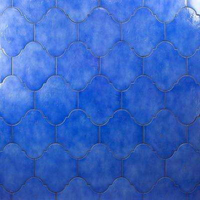 Appaloosa Arabesque Blue 8 in. x 10 in. 10mm Polished Porcelain Floor and Wall Tile (18-piece 10.54 sq. ft. / box)