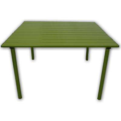 Green Aluminum Square Outdoor Picnic Table with Bag