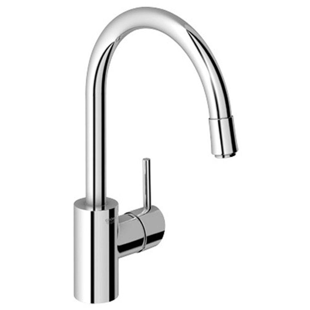 Concetto Single-Handle Pull-Down Sprayer Kitchen Faucet in StarLight Chrome