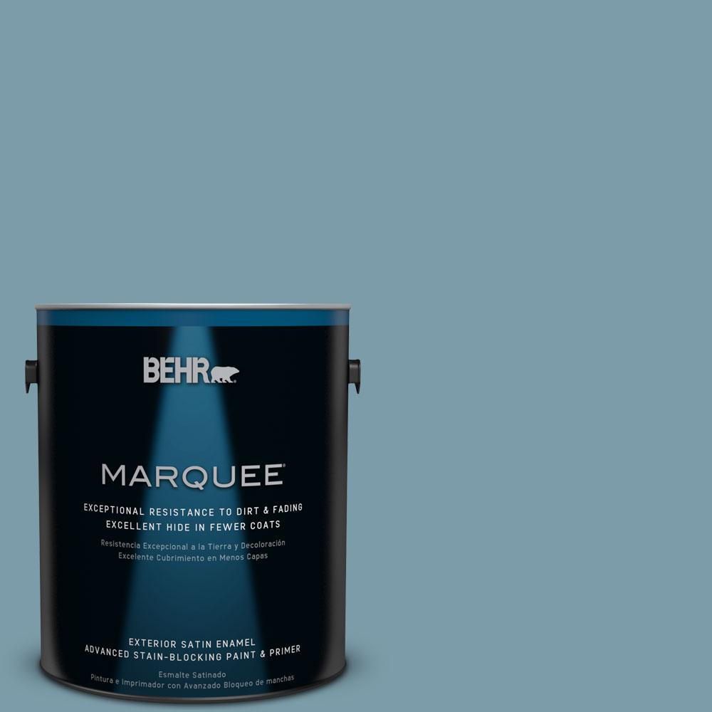Behr Marquee 1 Gal S470 5 Blueprint Satin Enamel Exterior Paint 945401 The Home Depot