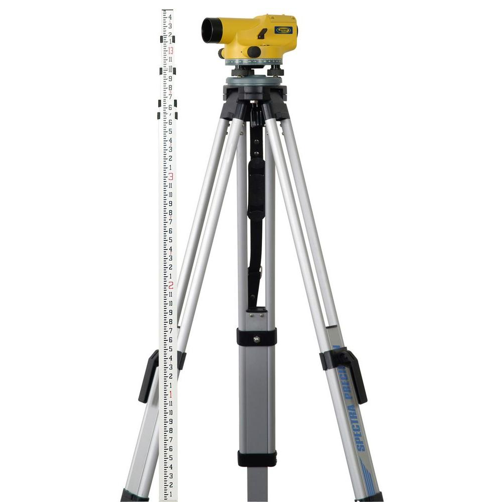 Spectra Precision 7.5 in. Hand Tool Automatic Level Package with Tripod