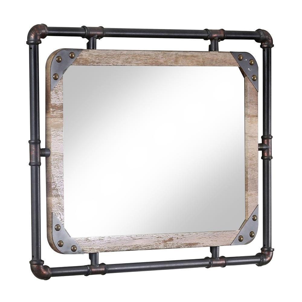 Sarver Antique Black Metal Mirror