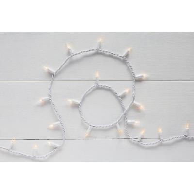 11.5 ft. 50-Light Mini Incandescent Clear String Light with White Wire