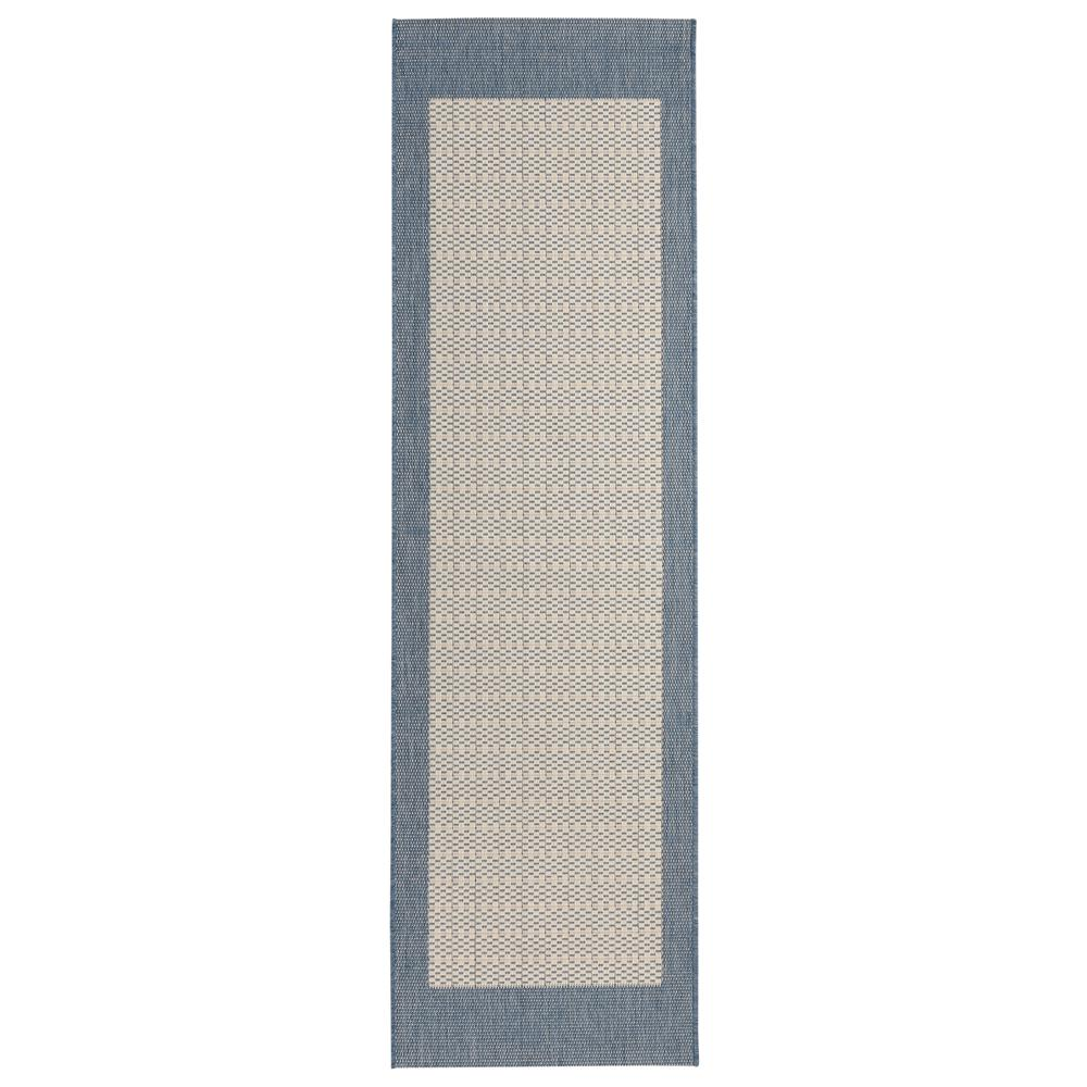 Home Decorators Collection Checkered Field Blue/Champagne 2 ft. 3 ...