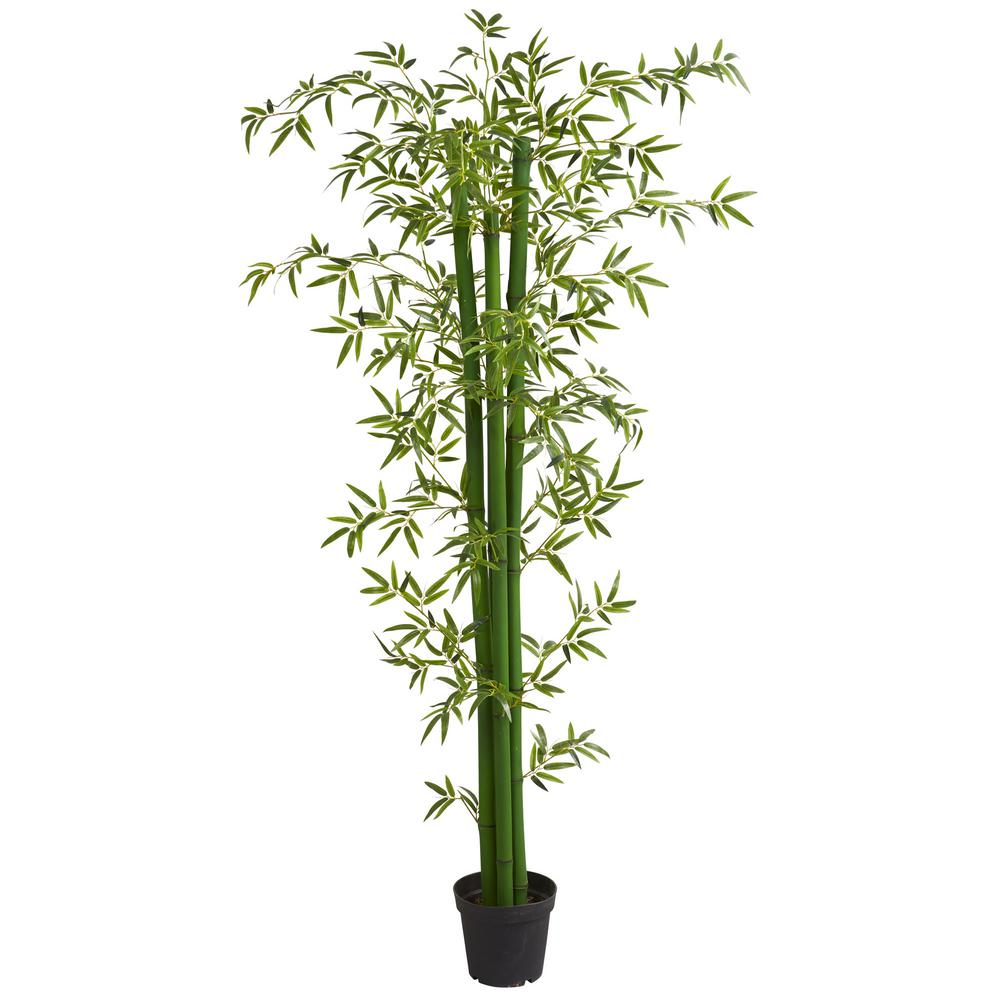 Nearly Natural Indoor 8 Ft Bamboo Artificial Tree 5595 The Home