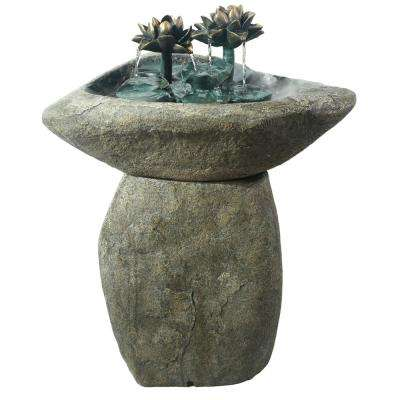 Lotus Rock LED Fountain