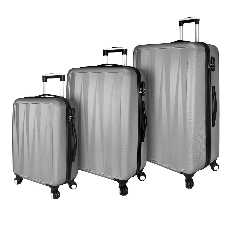 Elite Verdugo Hardside 3-Piece Grey Spinner Luggage Set