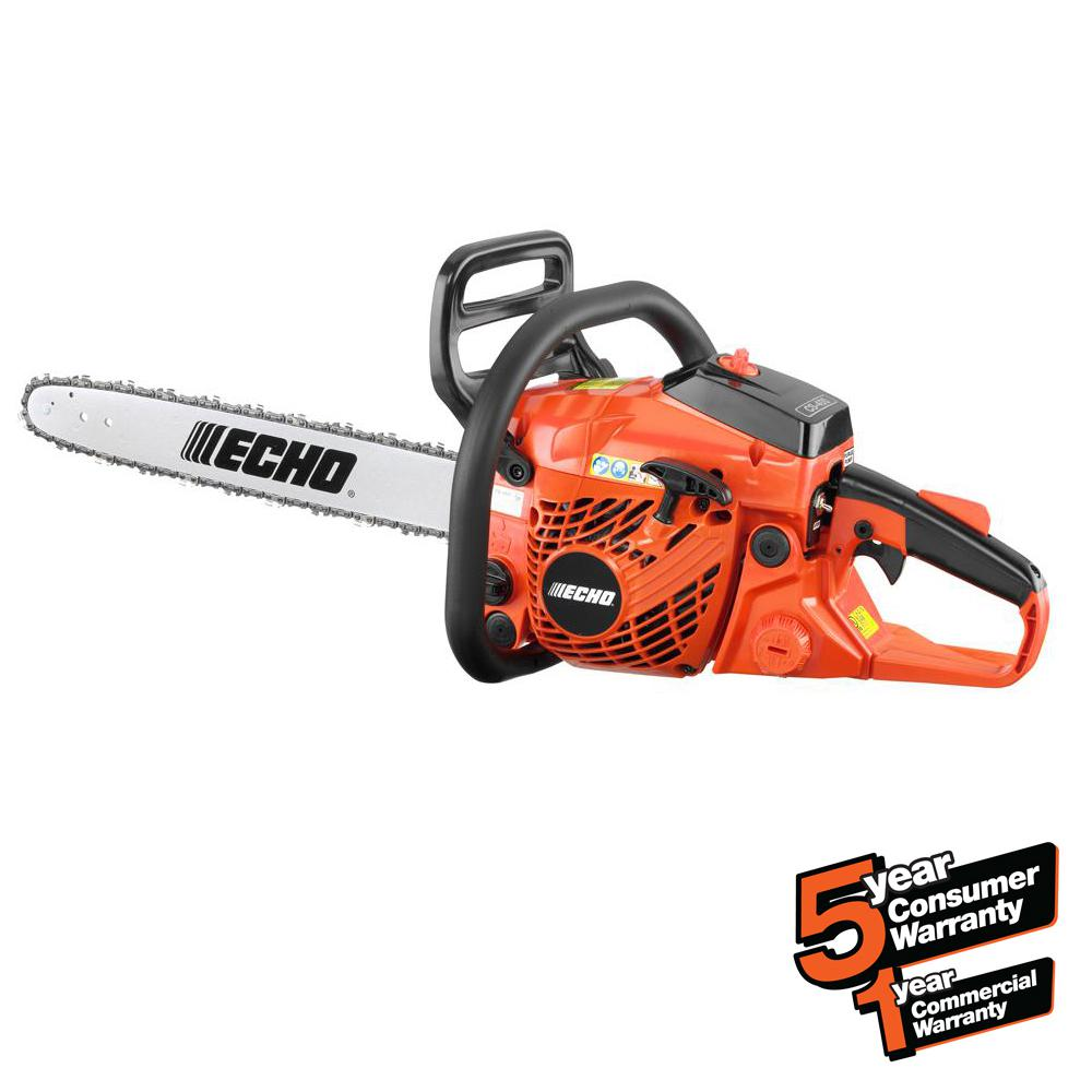 4dc02532c7e ECHO 18 in. 40.2cc Gas 2-Stroke Cycle Chainsaw-CS-400-18 - The Home ...