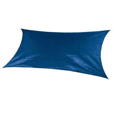 18 ft. x 10 ft. Cobalt Blue Rectangle Ultra Shade Sail with Kit