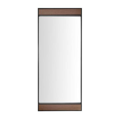 Oversized Metal & Wood Frame Modern Floor Mirror (70 in. H x 30 in. W)