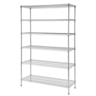 Chrome 6-Tier Heavy Duty Metal Wire Shelving Unit (48 in. W x 72 in. H x 18 in. D)