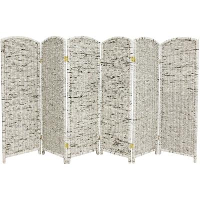 4 ft. Gray 6-Panel Recycled Newspaper Room Divider