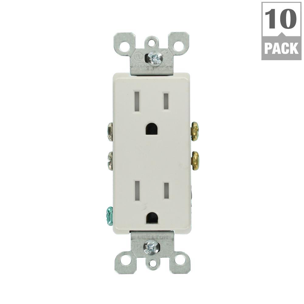 Leviton decora 15 amp tamper resistant duplex outlet for Outlet mobile