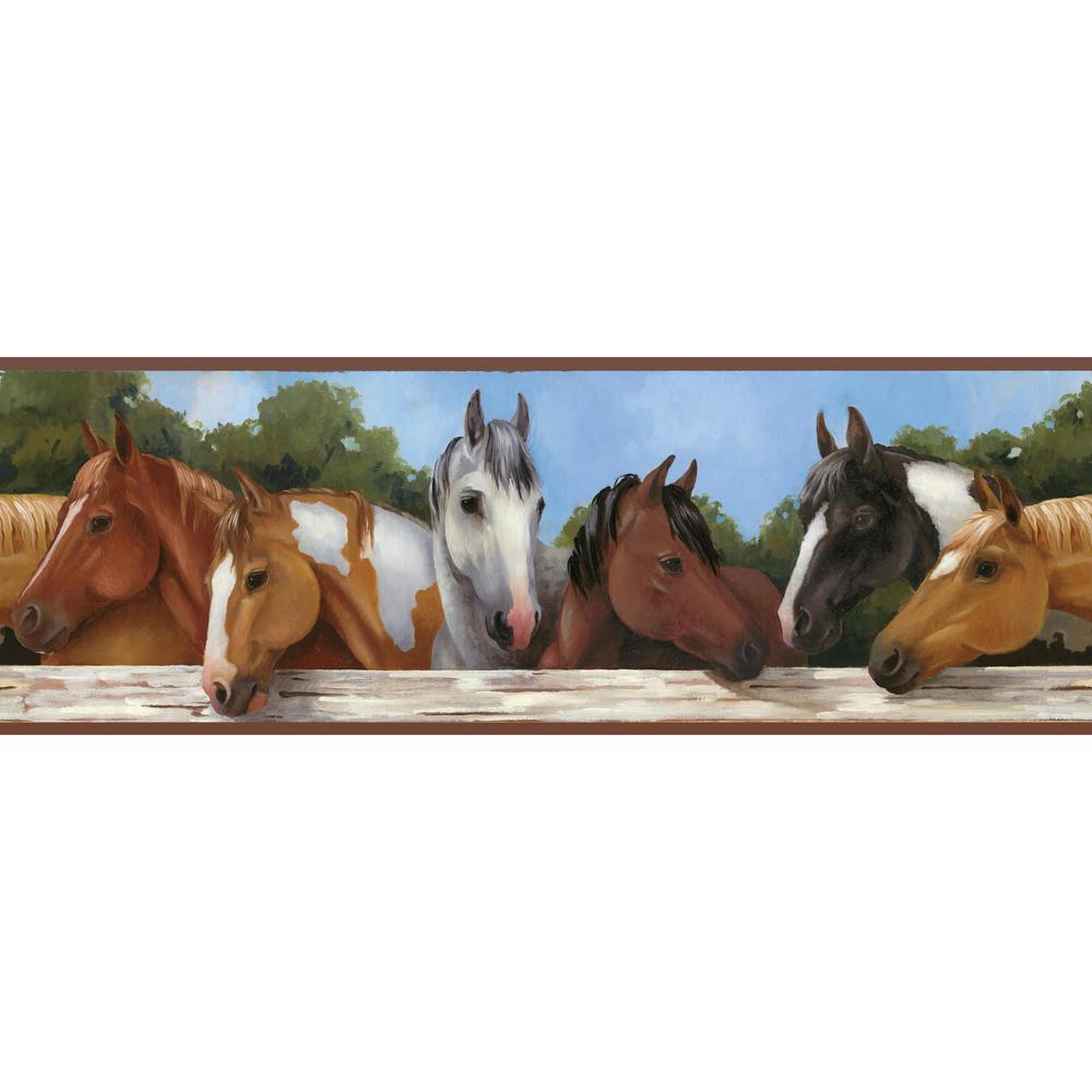 Brothers and Sisters V Hooray For Horses Wallpaper Border