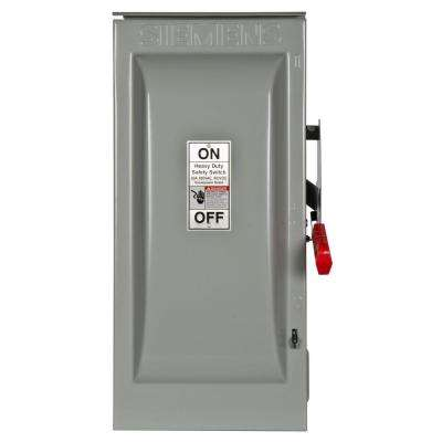 Heavy Duty 60 Amp 600-Volt 3-Pole Outdoor Fusible Oversized Safety Switch