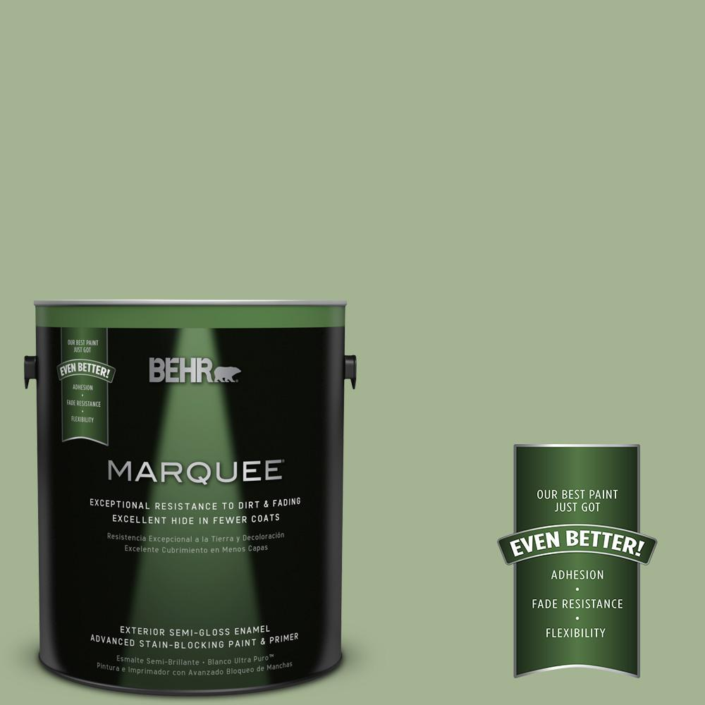 BEHR MARQUEE 1-gal. #PPU11-6 Willow Grove Semi-Gloss Enamel Exterior Paint