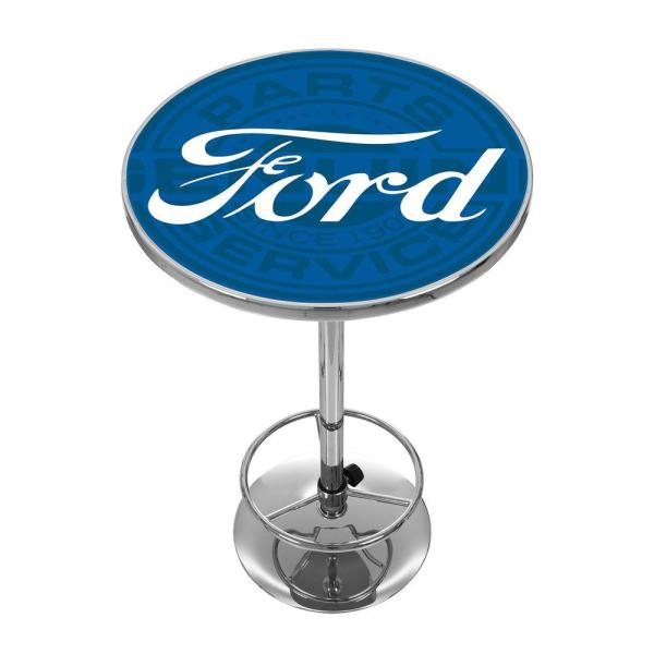 Ford Genuine Parts Chrome Pub/Bar Table