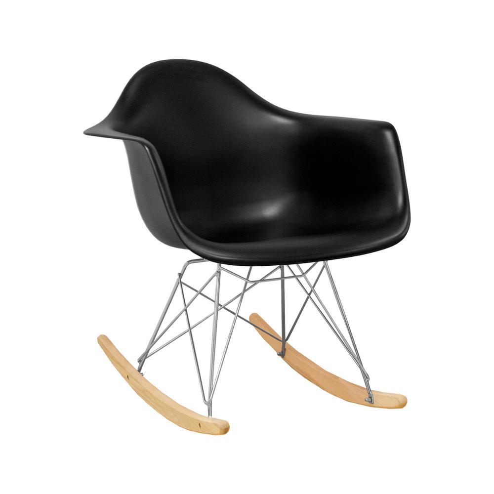 Fine Paris Tower Rocker Black Lounge Chair Creativecarmelina Interior Chair Design Creativecarmelinacom