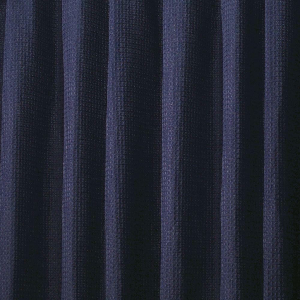 InterDesign York Shower Curtain In Navy
