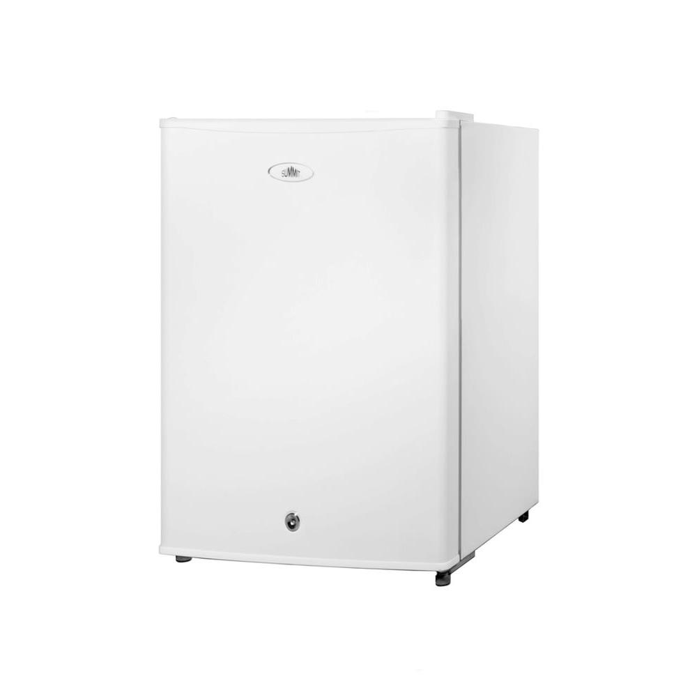 Summit Appliance 2.5 cu.ft. Mini Refrigerator in White with Lock-DISCONTINUED