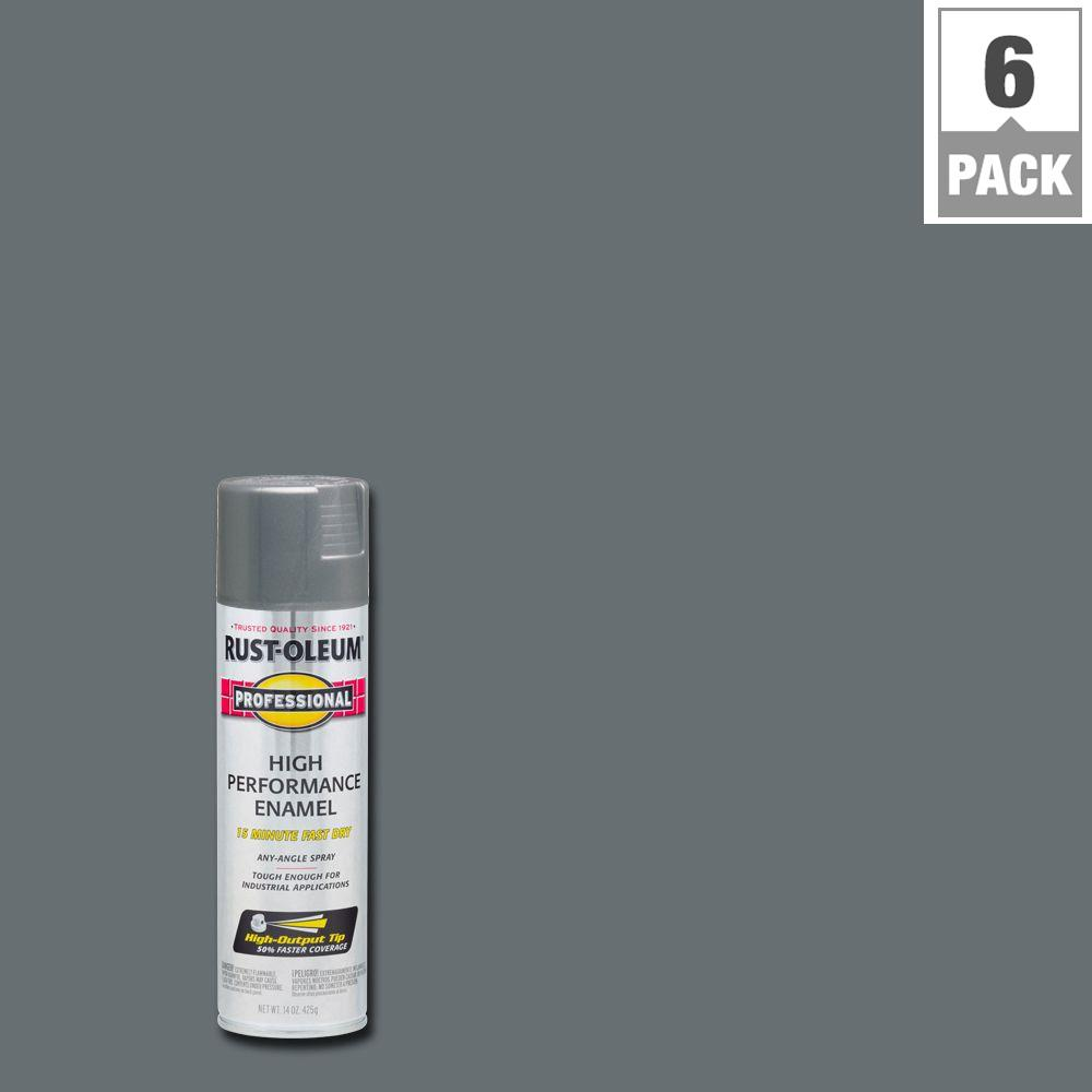 High Performance Enamel Gloss Stainless Steel Spray Paint 6 Pack 7519838 The Home Depot