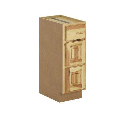 Madison Assembled 12x34.5x21 in. Bathroom Vanity Drawer Base Cabinet in Hickory